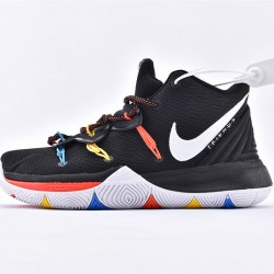 Nike Kyrie 5 Mens Basketball Shoes AO2919-006 Black White Sneakers