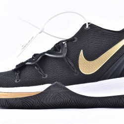Nike Kyrie 5 Mens Basketball Shoes AO2919-007 Black Gold Sneakers