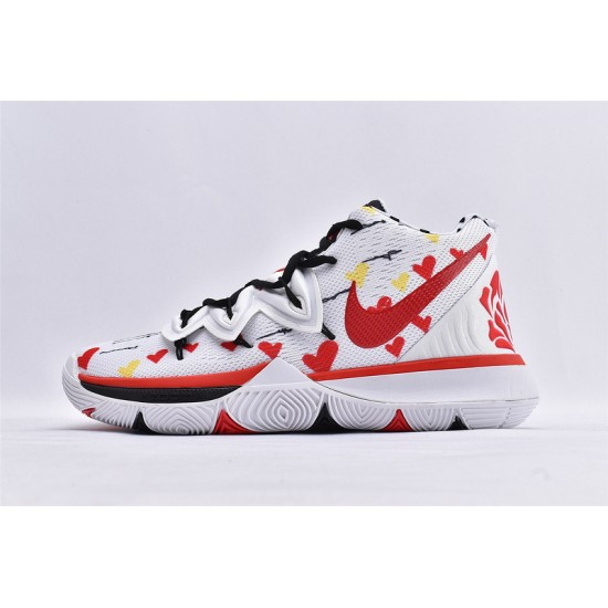 Nike Kyrie 5 Mens Basketball Shoes AO2919-106 Red White Black Sneakers