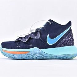 Nike Kyrie 5 Mens Basketball Shoes AO2919-400 Deep Blue Light Blue Sneakers