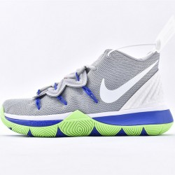 Nike Kyrie 5 Mens Basketball Shoes AQ2456-099 Gray White Blue Sneakers
