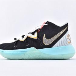 Nike Kyrie 5 Mens Black Silver White Basketball Shoes