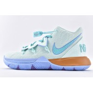 Nike Kyrie 5 x Patrick Star Basketball Shoes CJ6951-300 Light Blue Brown Mens Sneakers
