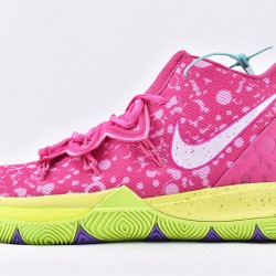 Nike Kyrie 5 x Patrick Star Basketball Shoes CJ6951-600 Mens Purple Yellow Sneakers