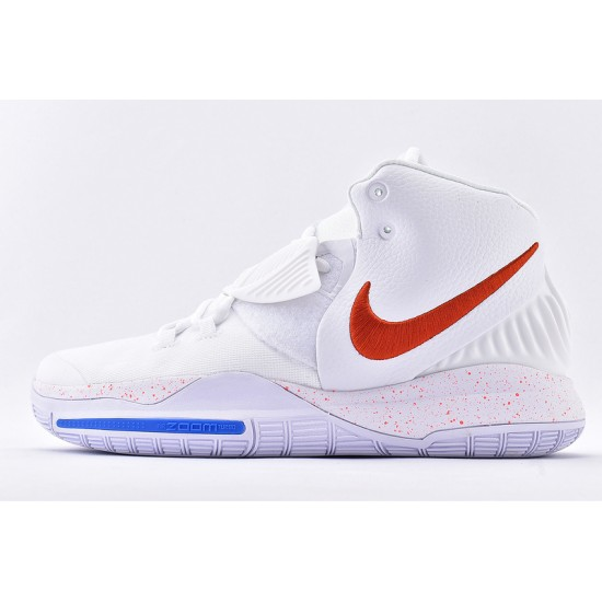 Nike Kyrie 6 Mens Basketball Shoes BQ4630-016 White Red Blue Sneakers