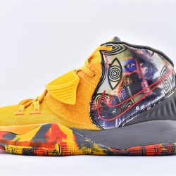 Nike Kyrie 6 Pre Heat Beijing Mens Basketball Shoes CQ7634-701 Yellow Gray Sneakers