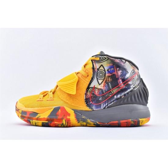 Nike Kyrie 6 Pre Heat Beijing Mens Basketball Shoes CQ7634-701 Yellow Gray Sneakers