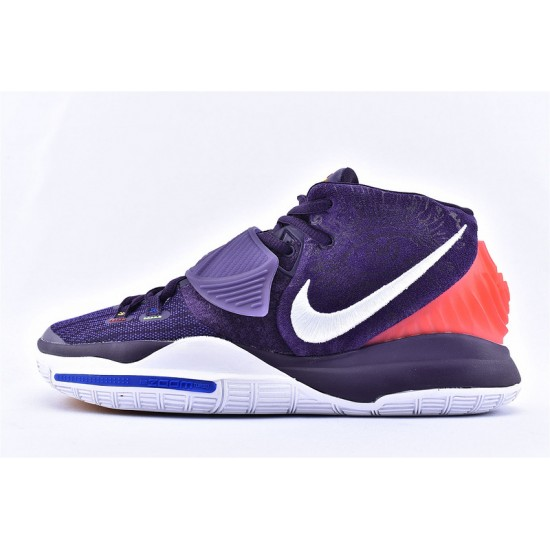 Nike Kyrie 6 Pre Heat Berlin Mens Basketball Shoes BQ4630-500 Purple Red White Sneakers