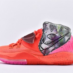 Nike Kyrie 6 Pre Heat Berlin Mens Basketball Shoes CN9839-600 Red Gray Purple Sneaker