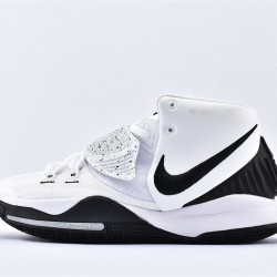 Nike Kyrie 6 Pre Heat Mens Basketball Shoes BQ4630-100 White Black Sneakers