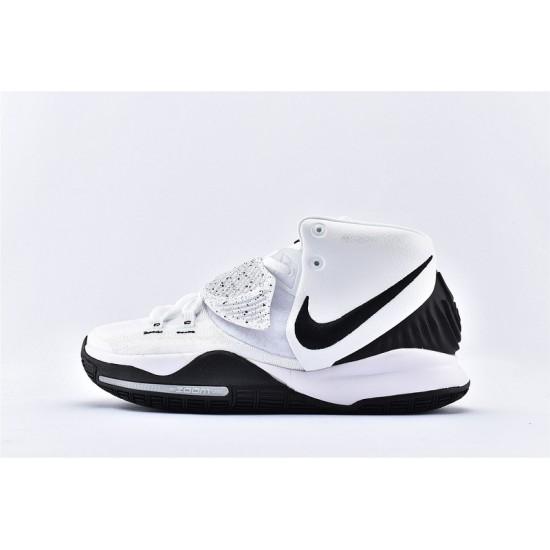 Nike Kyrie 6 Pre Heat Mens Basketball Shoes BQ4630-100 White Black Sneakers