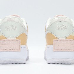 Nike Air Force 1 Low Shadow White Khaki Womens Running Shoes CK3172-002 AF1 Sneakers