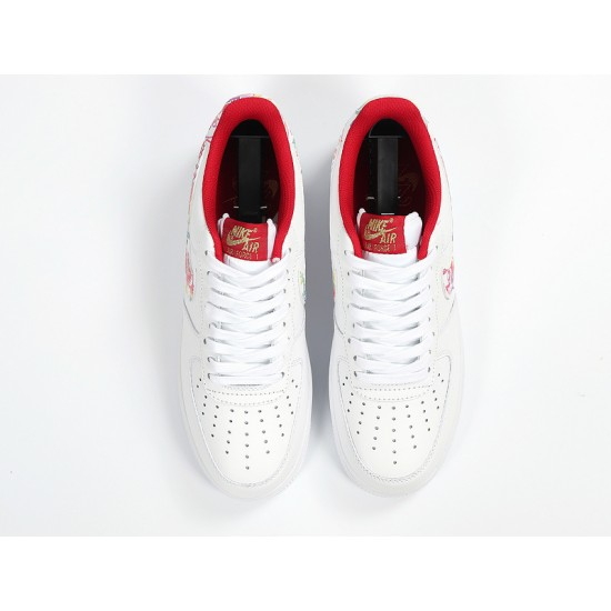 Nike Air Force 1 Low White Red Red Unisex Running Shoes CU2980-191 AF1 Sneakers