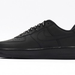 Supreme x Nike Air Force 1 All Black Sneakers CU9225-001 AF1 Unisex Running Shoes