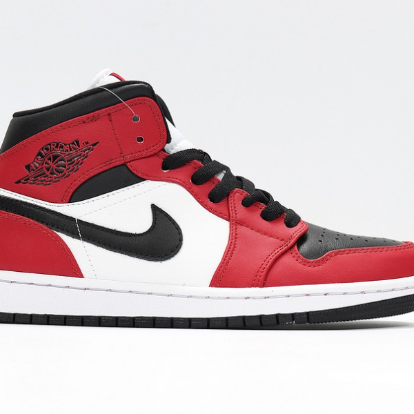 Nike Air Jordan 1 Mid Chicago Black Toe Basketball Shoes Unisex AJ1 Sneakers 554724-069
