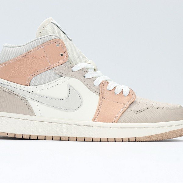 Nike Air Jordan 1 Mid Khaki Basketball Shoes CV3044-100 AJ1 Unisex White Sneakers