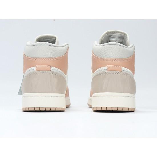 Nike Air Jordan 1 Mid Khaki Basketball Shoes CV3044-100 AJ1 Unisex White Sneakers