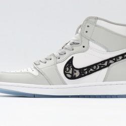 Air Jordan 1 High Silver White Black Basketball Shoes CN8607-002 AJ1 Unisex Sneakers