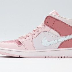Nike Air Jordan 1 Mid Digital Pink Womens Basketball Shoes CW5379-600 AJ1 Sneakers