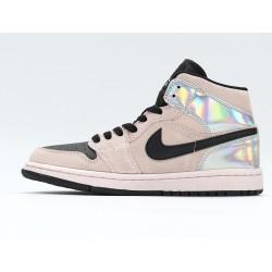 Nike Air Jordan 1 Mid Iridescent Unisex Basketball Shoes BQ6472-602 Brown Black Sneakers