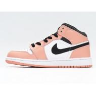 Nike Air Jordan 1 Mid Pink Quartz Unisex Basketball Shoes 555112-603 AJ1 Pink White Black Sneakers