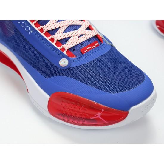 Nike Air Jordan 34 Captain America Blue Red Basketball Shoes BQ3381-123 AJ34 Mens Sneakers