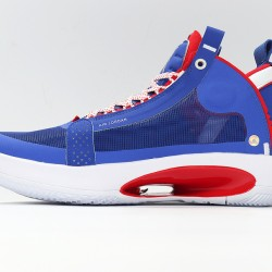 Nike Air Jordan 34 Captain America Blue Red Basketball Shoes BQ3381-123 AJ34 Mens Sneakers