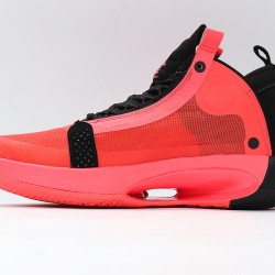 Nike Air Jordan 34 Infrared 23 Black Red Basketball Shoes AR3240-600 AJ34 Mens Sneakers