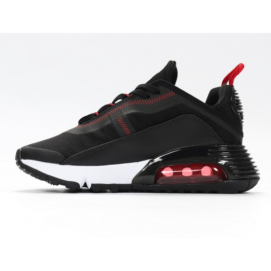Nike Air Max 2090 Black Red Unisex Running Shoes CT7698-005 Sneakers