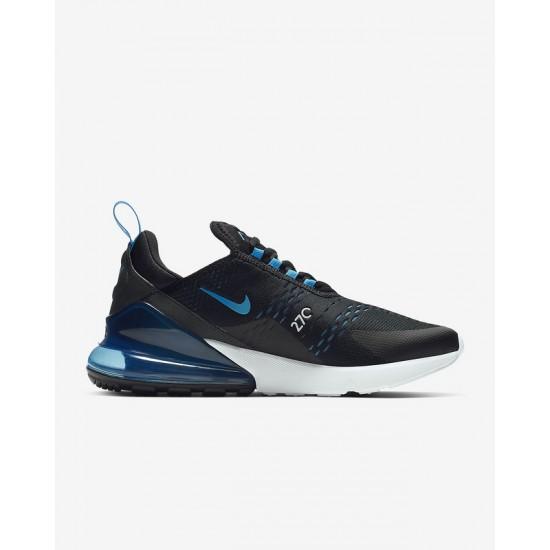 Nike Air Max 270 Mens Running Shoes Black Blue White Sneakers AH8050 019