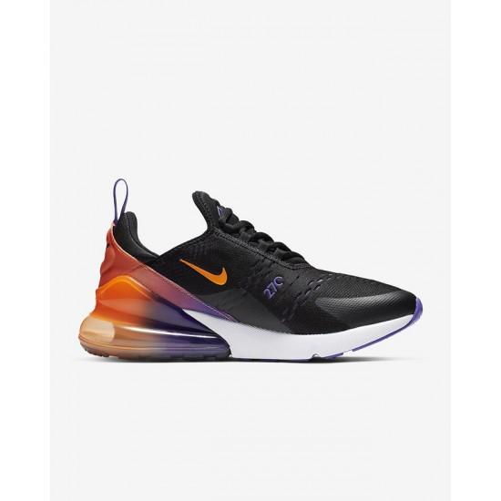 Nike Air Max 270 Mens Running Shoes Black Orange Sneakers CN7077 081