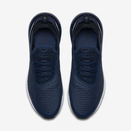 Nike Air Max 270 Mens Running Shoes Deep Blue White Sneakers AH8050 400