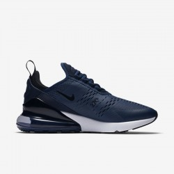 Nike Air Max 270 Mens Running Shoes Deep Blue White Sneakers AH8050 400