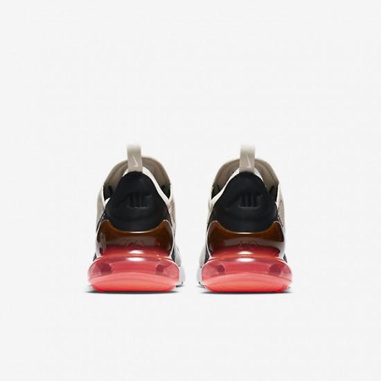 Nike Air Max 270 Mens Running Shoes Gray Brown Red Black Sneakers AH8050 003