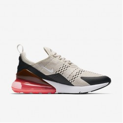 Nike Air Max 270 Mens Running Shoes Gray Brown Red Black Sneakers AH8050 003