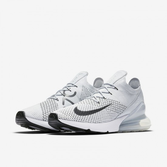Nike Air Max 270 Mens Running Shoes Gray White Sneakers AO1023 003