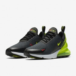 Nike Air Max 270 Mens Running Shoes Gray Yellow Sneakers AQ9164 005