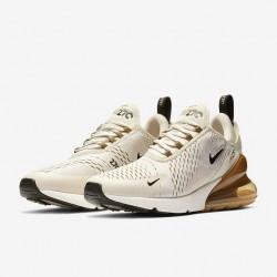 Nike Air Max 270 Mens Running Shoes Light Gray Brown Sneakers AH8050 018