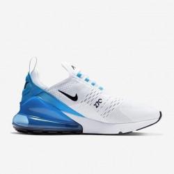 Nike Air Max 270 Mens Running Shoes White Blue Sneakers AH8050 110