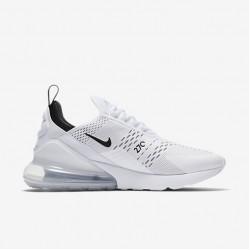 Nike Air Max 270 Mens Womens Running Shoes White Black Sneakers AH8050 100