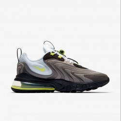 Nike Air Max 270 React Eng Black Brown Green Mens Running Shoes CW2623 001