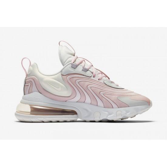 Nike Air Max 270 React Eng Pink White Womens Running Shoes CK2595 001