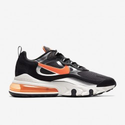 Nike Air Max 270 React Men Sneaker Black Orange Gray Running Shoes CQ4598 084