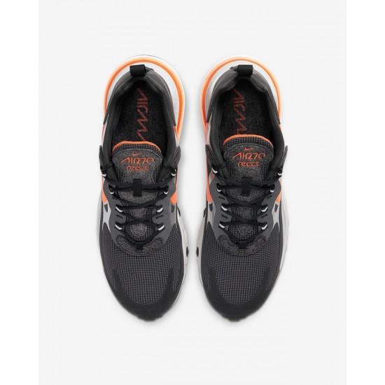 Nike Air Max 270 React Men Sneaker Black Orange Gray Running Shoes CQ4598 084