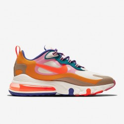 Nike Air Max 270 React Men Sneaker Brown White Blue Orange Running Shoes CU3014 181