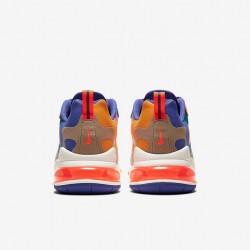 Nike Air Max 270 React Men Sneaker Brown White Blue Orange Running Shoes CU3014 181