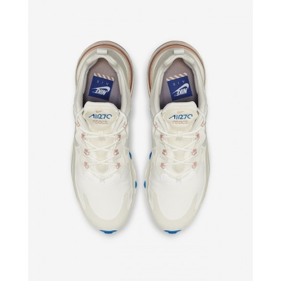 Nike Air Max 270 React Men Women Sneaker White Pink Running Shoes AO4971 100