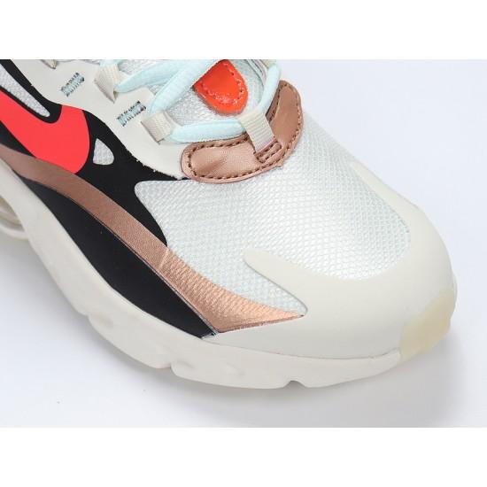 Nike Air Max 270 React Mens Women Sneaker Beige Gold Orange Running Shoes CT3428-100