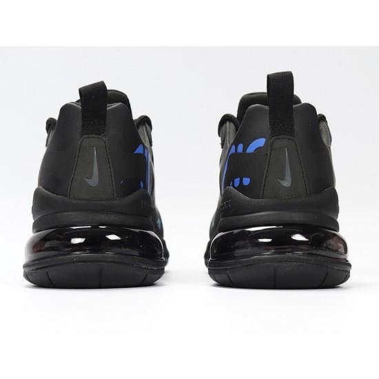 Nike Air Max 270 React Mens Women Sneaker Black Blue Running Shoes CT2203-001