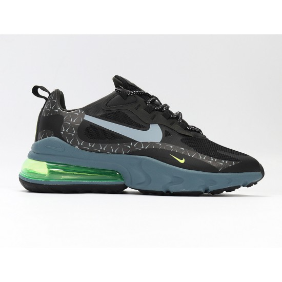 Nike Air Max 270 React Mens Women Sneaker Black Green Running Shoes CT2538-001